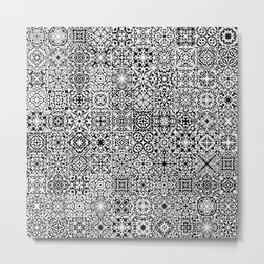 Mandala Textil Metal Print