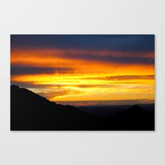Setting of the Sun Canvas Print