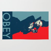 obey Area & Throw Rugs featuring Obey by Geek World