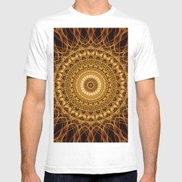 Golden ornamented mandala T-shirt