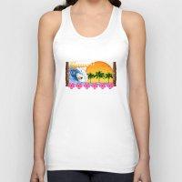 hawaiian Tank Tops featuring Hawaiian Surfing by MacDonald Creative Studios
