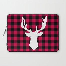 Winter Plaid Deer Laptop Sleeve