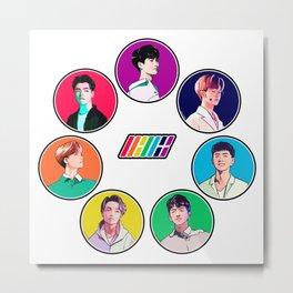 iKON Rainbow Metal Print