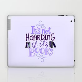 Book Hoarder - Purple Laptop & iPad Skin