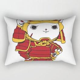 Samurai Cat Rectangular Pillow