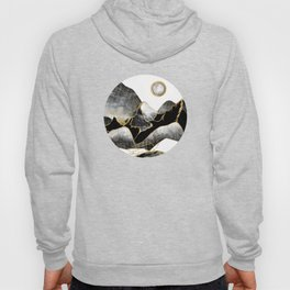 Minimal Black and Gold Mountains Hoody