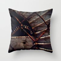 industrial Throw Pillows featuring Industrial by KunstFabrik_StaticMovement Manu Jobst