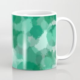 Turquoise polka dots pattern Coffee Mug