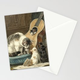 The Musicians - Vintage Cat Painting Stationery Cards