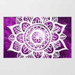 Purple Galaxy Mandala Rug