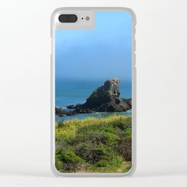 Rocks In The Sea At Pigeon Point Clear iPhone Case