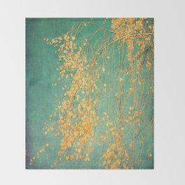 yellow leaves Throw Blanket