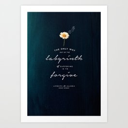 Looking for Alaska Art Print