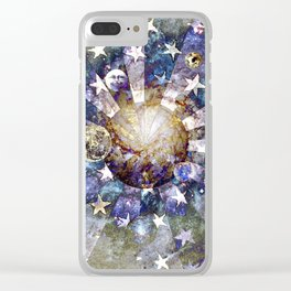 Space Odyssey - Celestial Bodies I Clear iPhone Case