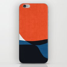 Blue and red modern art V iPhone Skin