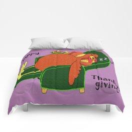 Sleeping Turkey with Pumpkin Pie Comforters