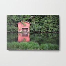 Mirror Lake House Metal Print
