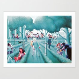 African American Masterpiece 'Sunday in Central Park' by Archibald Motley Art Print