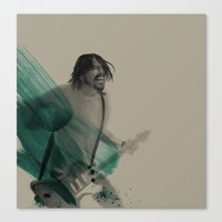 dave grohl Canvas Prints featuring Dave Grohl by Daniel Cisneros