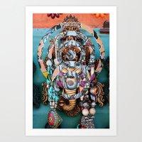 ganesh Art Prints featuring Ganesh by Ira Carter