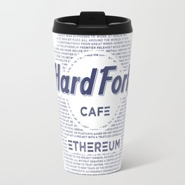 Hard Fork Cafe Ethereum (blue) Travel Mug