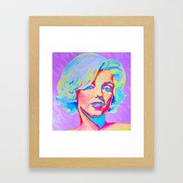 Rainbow Marilyn Framed Art Print