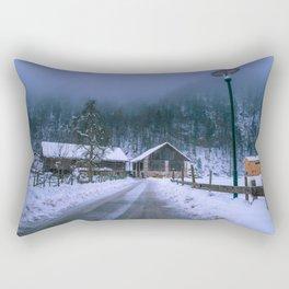 Winter hike - Bludenz, Austria Rectangular Pillow