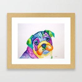 Bulldog Puppy Framed Art Print