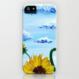 Sunflower & clouds iPhone Case