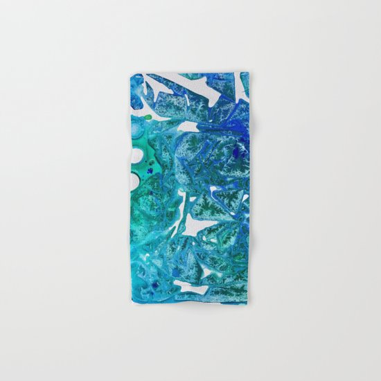 Sea Leaves, Environmental Love of the Ocean Blue Hand & Bath Towel