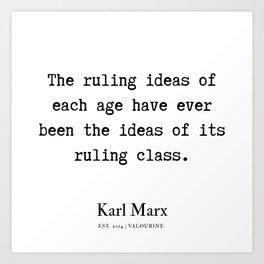 30  | Karl Marx Quotes | 190817 Art Print