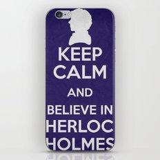 Keep Calm - Sherlock Poster 01 iPhone & iPod Skin