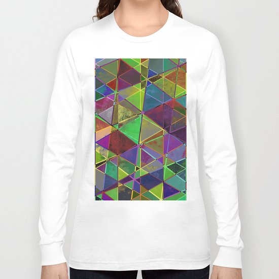 Tangled Triangles - Abstract, textured, geometric design Long Sleeve T-shirt