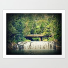 Waterfall at Cairns Art Print