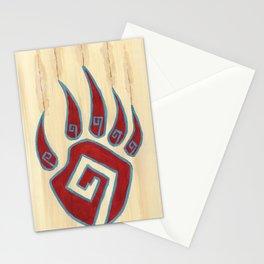 Tribal Bear Paw Stationery Cards