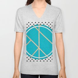Leaf - small triangle graphic Unisex V-Neck