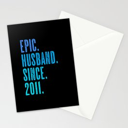 Epic husband since 2011 marriage wedding Stationery Cards
