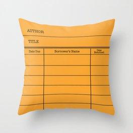 LiBRARY BOOK CARD (tang) Throw Pillow