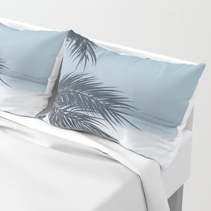 Palm and Ocean Pillow Sham