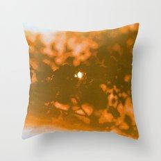orange haze and white sunlight Throw Pillow