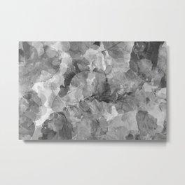Black and White Foliage Metal Print