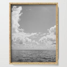 Monochrome Ocean View III Serving Tray