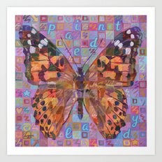 Butterfly (Painted Lady) Art Print