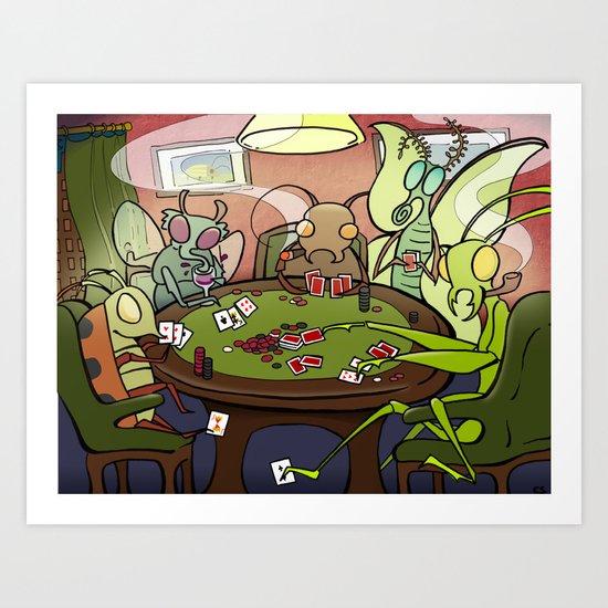 Bugs Playing Poker Art Print
