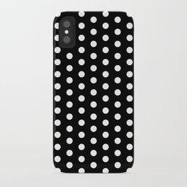 Black White Polka Dots iPhone Case