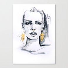Golden leaf Canvas Print