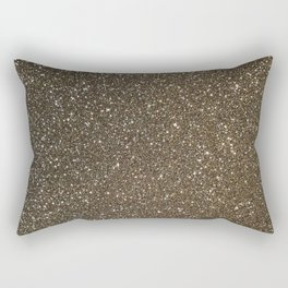 Bronze Gold Burnished Glitter Rectangular Pillow