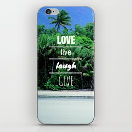 Love. Live. Laugh. Give. iPhone Skin