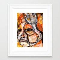 fierce Framed Art Prints featuring Fierce by Michele Martin