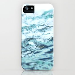 Abstract water splash surface filling the frame with the water drop and waving iPhone Case